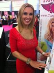 Tanya Tate working her table at the Club Sponsor booth