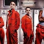 """Misfits"""" Cast Members Karla Crome, Joseph Gilgun, Nathan"""