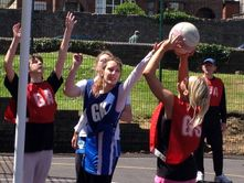 coming second in a netball challenge match against Frome Netball Club