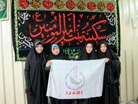 muslimah syiah dari komunitas Ijabi dengan chador hitam mereka