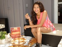 Zendaya Coleman , star of the Disney Channel sitcom, Shake It Up , at