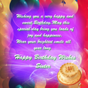 Happy Birthday Sister. Free Wishes eCards, Greeting Cards | 123