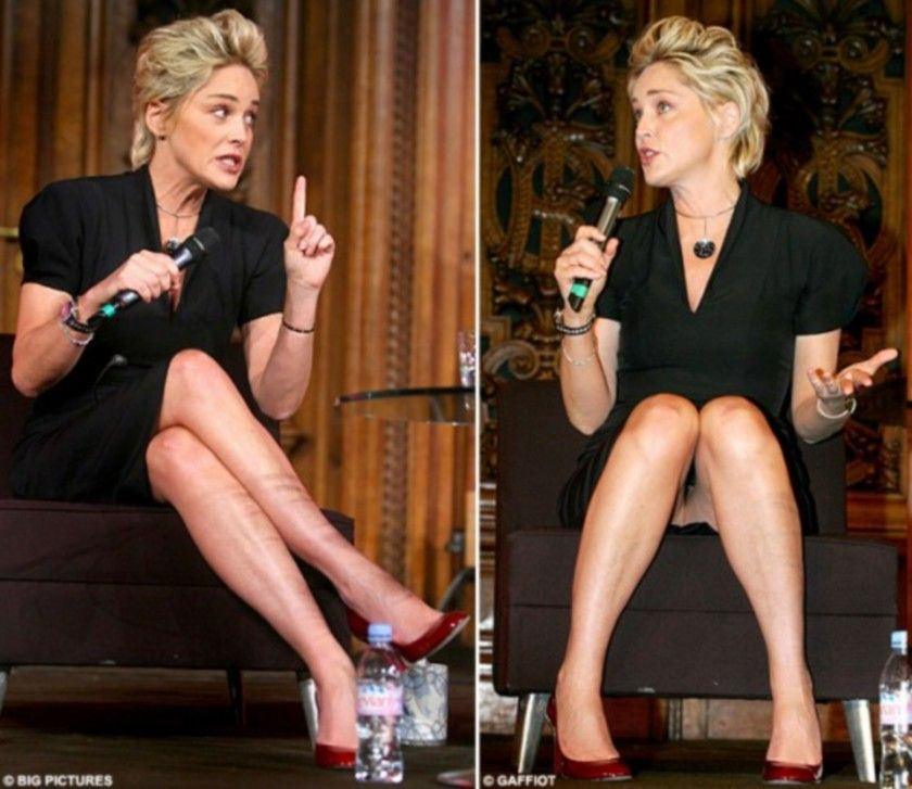 Sharon Stone Very Hot In Silver