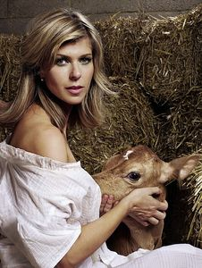 Baby milk: Kate Garraway in the 'provocative but unsettling' picture