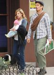 Ethan Hawke, wife Ryan Shawhughes and daughter Clementine Hawke take a