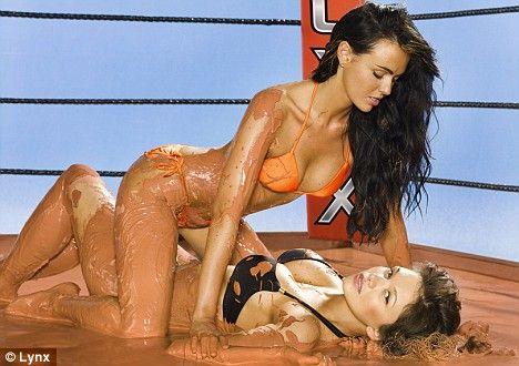 Couple Slender Brunettes Are Inside The Lesbo Wrestling