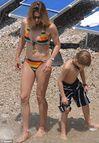 Steffi Graf showed off her still athletic figure in her bikini while