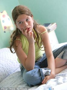 Young prey: Young girls using internet chatlines (like this 11-year