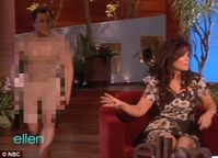 : Valerie Bertinelli gets a rude surprise on Ellen by a 'naked' man