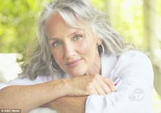grey': How 60yearold beauty became poster girl for boomer generation