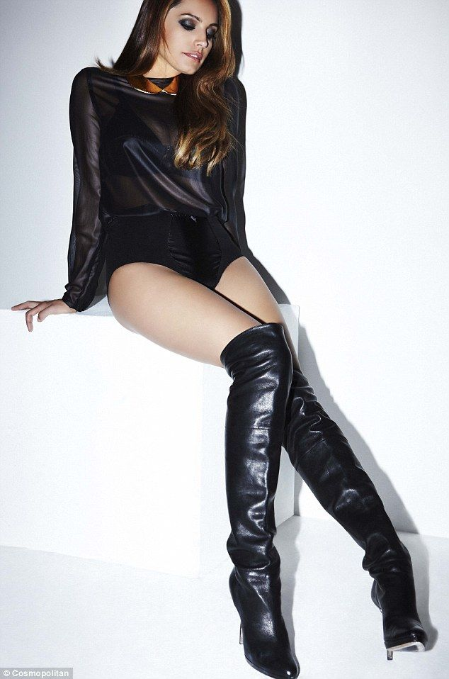 Knee High Boots And Red Underwear