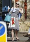 Peaches Geldof clambers on top of fiancé Thomas Cohen for a PDA on