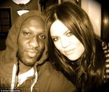 Loved up: Khloe posted a series of pictures of herself and her husband