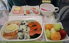 Tasty treats: The Hello Kittythemed inflight meal certainly looks a