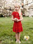 Natalia Vodianova's daughter Neva, 6, strikes a pose for Caramel