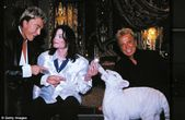 Famous: Siegfried and Roy, pictured with Michael Jackson in 2002, were