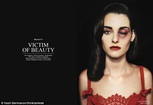 Should violent images of women EVER be portrayed as chic? Campaigners
