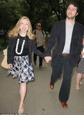Relaxed fit: Chelsea Clinton and husband Marc Mezvinsky arrived for a