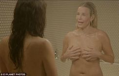Sandra Bullock turns naked and nasty as she chides Chelsea Handler in