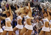 Dancing up a storm: The Dallas Mavericks' cheerleaders debuted a new