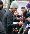 David Beckham drives away from training in Paris in new £80k Audi