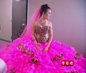 Is this the most outrageous wedding dress ever? Gypsy bride walks down