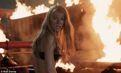 Red hot: The third Iron Man also has Paltrow stripping down to just a