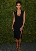 Halle Berry puts her budding bump on show (and new floral body art) in