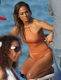 Jennifer Lopez stuns in 'naked' swimsuit on the set of new music
