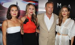 Kevin Costner brings his wife and two daughters to Man Of Steel