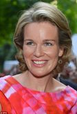 Glamorous royal couple: Belgium's Queen Mathilde, center right, and