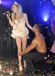Diana Vickers gets charmed by topless man while dressed as Cinderella