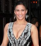 Paula Patton puts her ample cleavage on show in plunging gown at 2