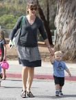 Jennifer Garner beams as her cute toddler Samuel shows off