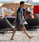 Scott Disick lounges at the pool and the beach while in Miami