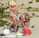 Victoria's Secret model Edita Vilkeviciute strips nude to sunbathe