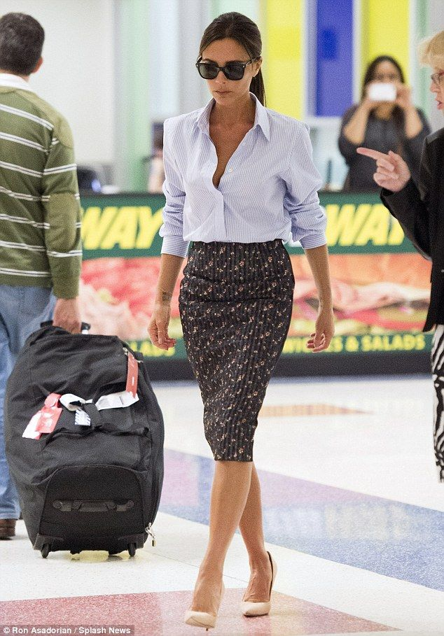 Victoria Beckham At Jfk Airport In New York City
