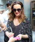 Leighton Meester displays toned legs on final night Of Mice And