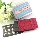 Rubber Stamp Set (15ea) with Tin Case Pussy Cat and Butterfly | eBay