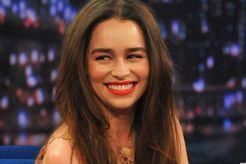 Emilia Clarke's Nude Dress On Jimmy Fallon Looks Gorgeous On Her