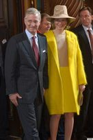 Queen Mathilde Accidentally Channels Big Bird (PHOTOS)