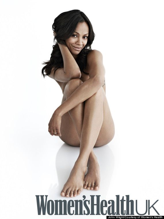 Zoe Saldana Poses Naked In Women S Health Uk