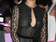 Rihanna Shows Off Nipple Ring In Sheer Dress On New Year's (PHOTOS)