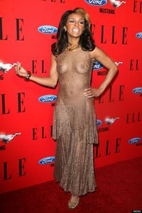 Melody Thornton Wears See Through Dress To 'Elle Women In Music' Bash