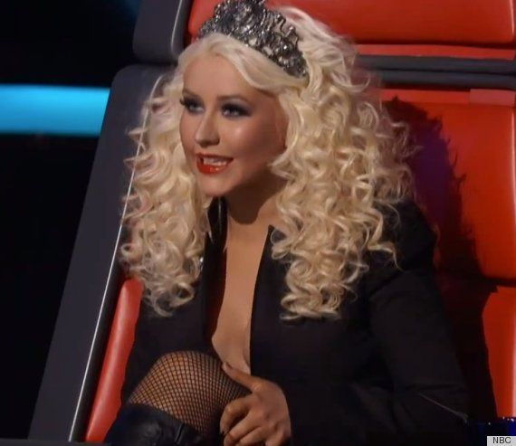 Christina Aguilera In Fishnets