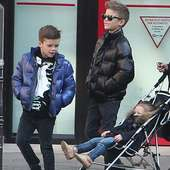 Romeo Beckham Is One Cool (Mini) Dude As He Strolls With Siblings In