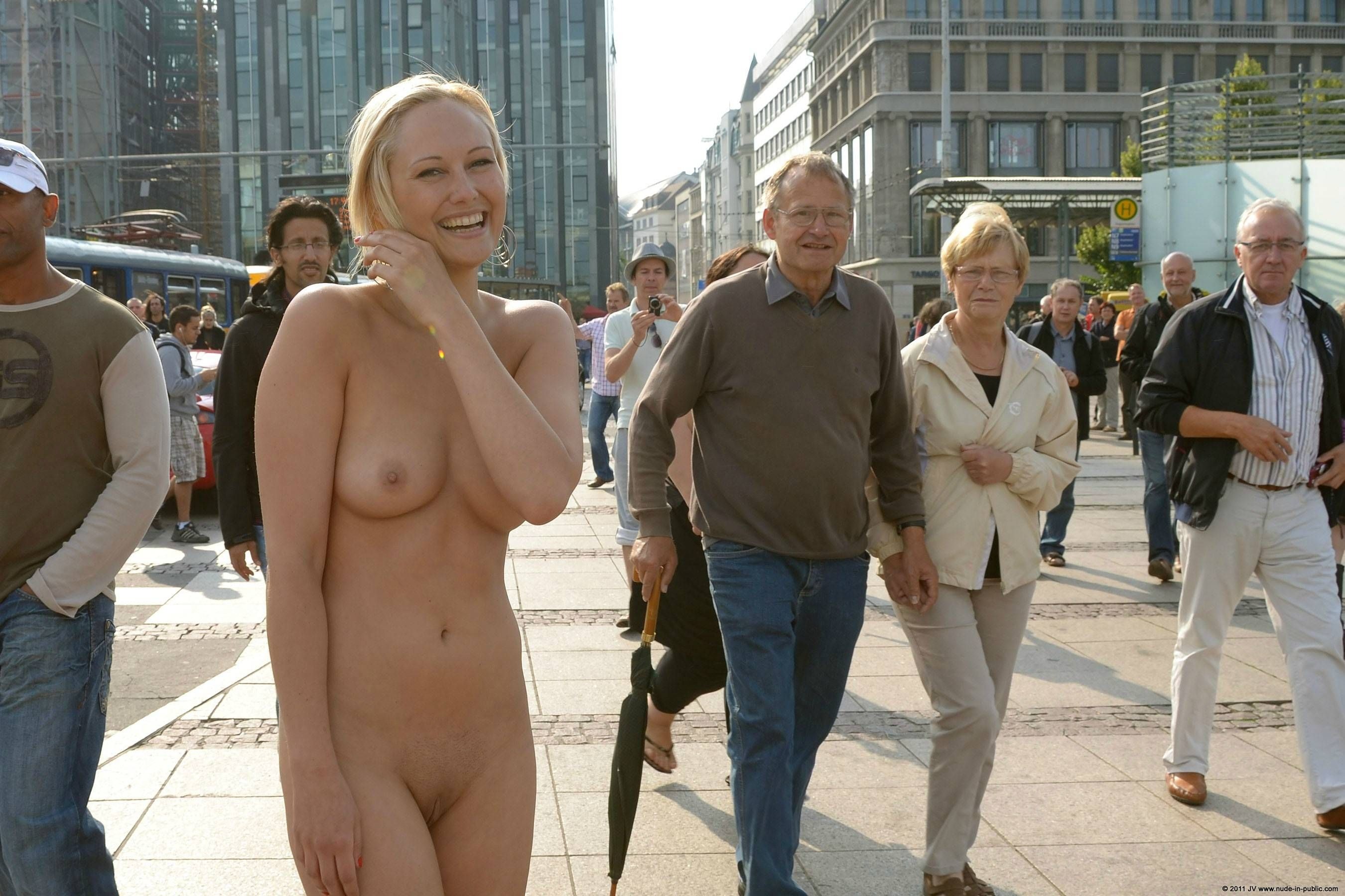 Nude In City
