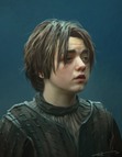 Maisie Williams painting