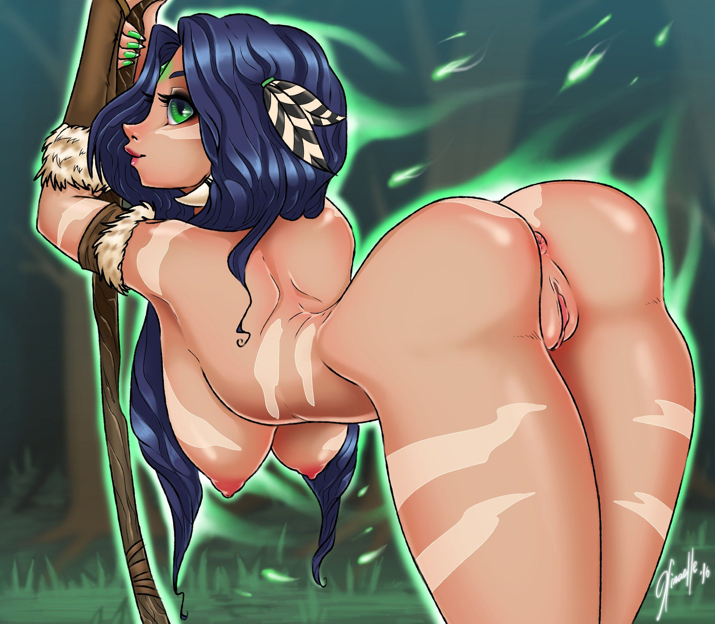 [League of Legends Rule34] Gracefull Nidalee (XInaelle)