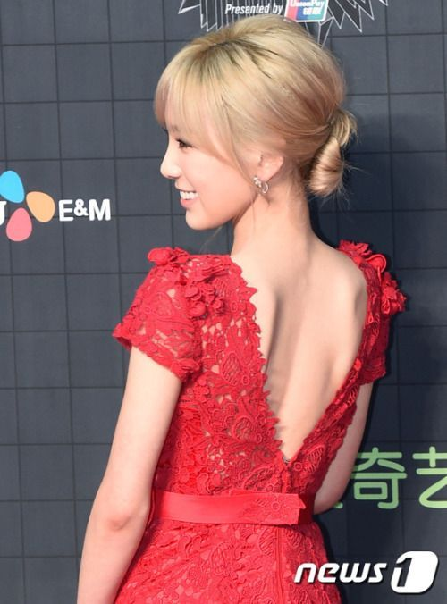 Taeyeon in red